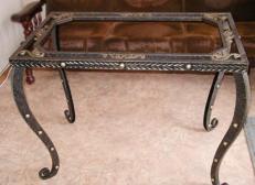 Кованый стол прямоугольной формы - Изделие 8