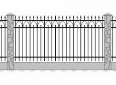 Кованый забор - изделие 120