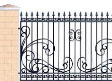 Кованый забор - изделие 121