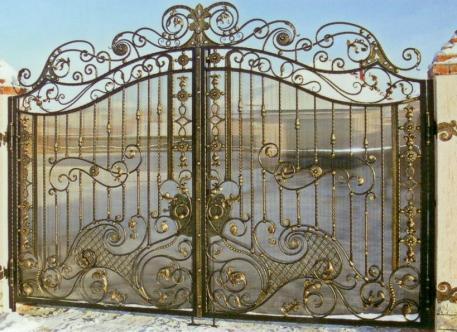 Кованые ворота - изделие 44