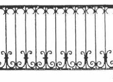 Кованый забор - изделие 119