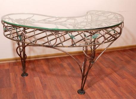 Овальный изогнутый кованый стол - Изделие 21