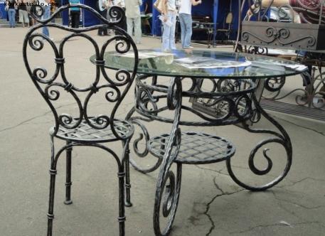 Кованый стол со стульями - Изделие 6