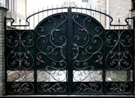 Кованые ворота с узором - изделие 32